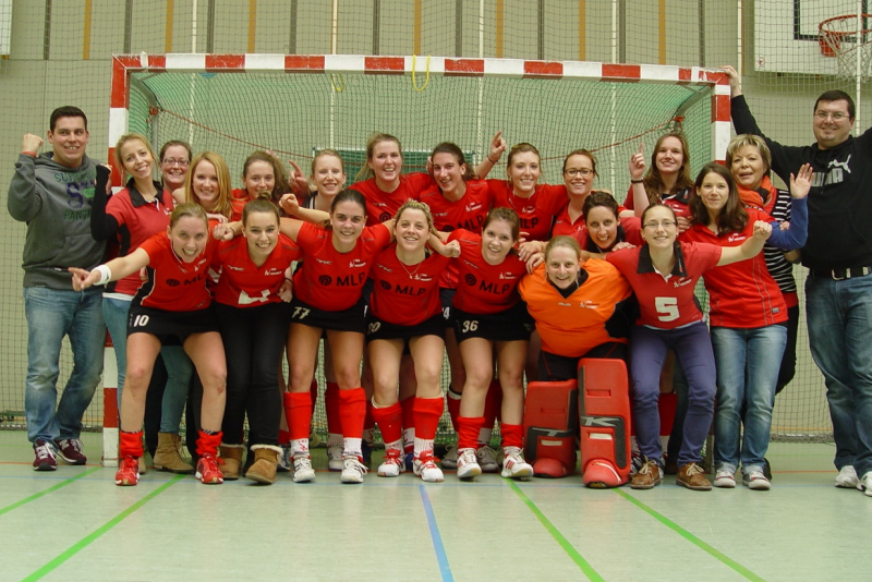 2. Damen als Oberliga-Meister am 23.02.2014 in Ulm