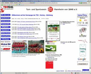 alte Hockey-Homepage