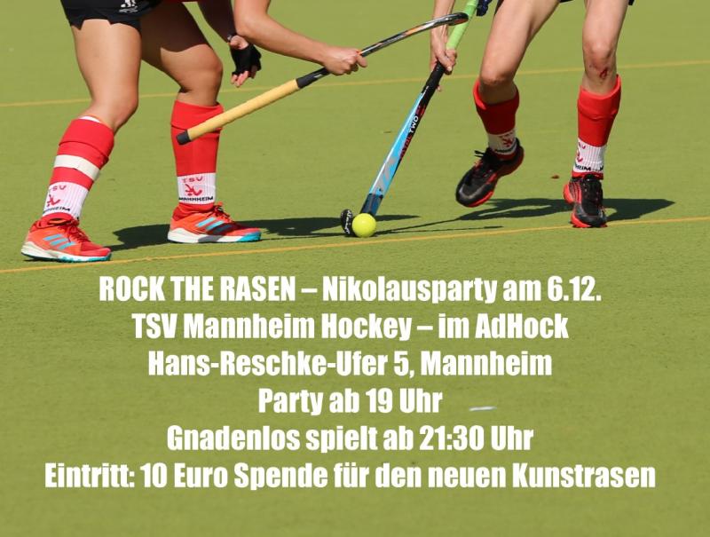 Einladung Rock the Rasen am 6. Dezember 2019