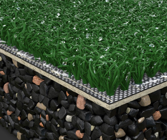 Edel Grass Kunstrasenbelag Summer green (Beispiel)